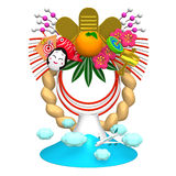 Japanese New Year Decoration And Mountain Royalty Free Stock Image