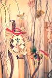 Japanese new year ornaments shimenawa wreath on bamboos Stock Images