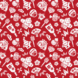 Japanese new year seamless pattern Stock Photography