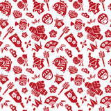 Japanese new year seamless pattern Stock Images