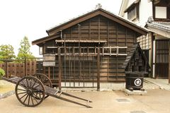Japanese ninja village architecture stock photo
