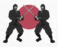Japanese ninjas Royalty Free Stock Image