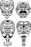 Japanese Noh Theatrical Masks Royalty Free Stock Photo