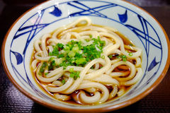 Japanese Noodle  in Cold Soup Stock Photos