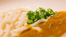 Japanese noodle with curry sauce Stock Photo