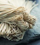 Japanese noodle soba. Japanese raw buckwheat noodle soba royalty free stock image