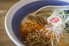 Japanese noodle with spicy ground pork paste Stock Photography