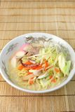 A Chinese-style hotchpotch originating in Nagasaki, called `chanpon`. It is the Japanese noodles dish of the Nagasaki mixture royalty free stock images