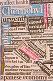 Japanese Nuclear reactor failure: headlines. Royalty Free Stock Images