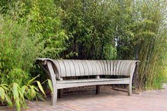 Japanese Oak Bench Stock Photography