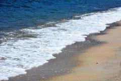 Japanese October Beach/Fukuok Ikinomathubara Beach. It is a famous beach with a white sand beach and a blue ocean Royalty Free Stock Photos