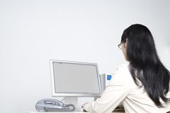 Japanese office lady Royalty Free Stock Image