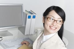 Japanese office lady Royalty Free Stock Images