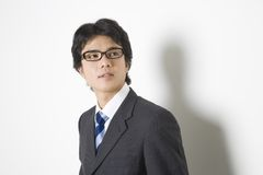 Japanese office worker royalty free stock image