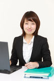 Japanese office worker royalty free stock images
