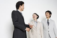 Japanese office workers royalty free stock images