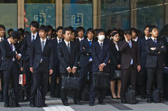 Japanese office workers Stock Image