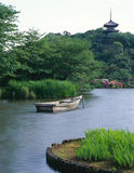 Japanese old garden stock image