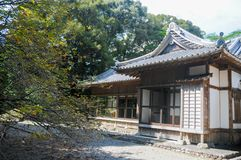 Japanese Old House located in Shizuoka, Japan. The house in Japan is usually made of wood and good air system for both summer and. Winter. In summer time royalty free stock photos