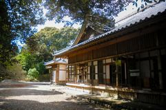 Japanese Old House located in Shizuoka, Japan. The house in Japan is usually made of wood and good air system for both summer and. Winter. In summer time stock images