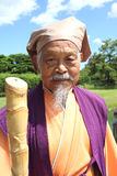 Japanese old man Royalty Free Stock Photos