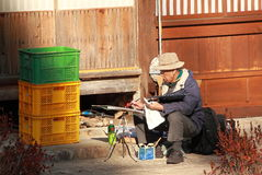 Japanese old man country lifestyle Stock Photo