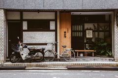 Japanese old restaurant exterior in Fukuoka, Japan royalty free stock photography