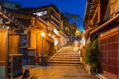 Japanese old town in Higashiyama District of Kyoto Royalty Free Stock Photos