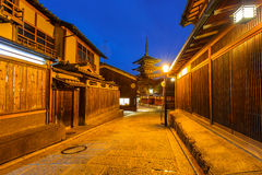 Japanese old town in Higashiyama District of Kyoto Stock Images
