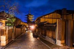 Japanese old town and Yasaka Pagoda in Kyoto Royalty Free Stock Image