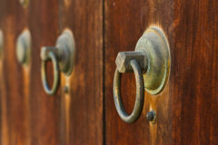 Japanese old wooden door Stock Image