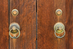 Japanese old wooden door Stock Photos