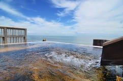 Japanese open air hot spring. (onsen royalty free stock photos