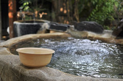 Japanese open air spa Stock Photos