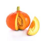 Japanese Orange pumpkin isolated on white background Stock Image