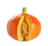 Japanese Orange pumpkin on white background Royalty Free Stock Photography