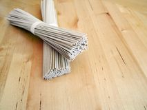 Japanese organic noodles Royalty Free Stock Image