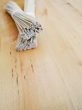 Japanese organic noodles Royalty Free Stock Photography