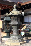 Japanese oriental iron garden lantern Stock Photos