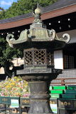 Japanese oriental iron garden lantern Royalty Free Stock Images