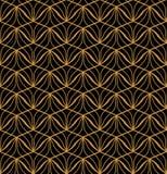 Japanese Ornamental Vector Background. Art Deco Floral Seamless Pattern. Geometric decorative texture. Vector Floral Art Nouveau Seamless Pattern. Geometric Royalty Free Stock Photos