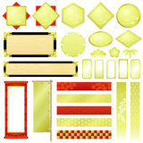 Japanese ornaments. Set of Japanese traditional ornaments Royalty Free Illustration