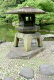Japanese outdoor stone lantern in zen garden Royalty Free Stock Photos
