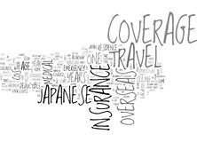 Japanese Overseas Travel Insurance Word Cloud Concept Royalty Free Stock Photo