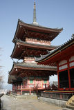 Japanese Pagoda. This is a pagoda at the Kiyomizu-dera, a temple in Kyoto stock photos
