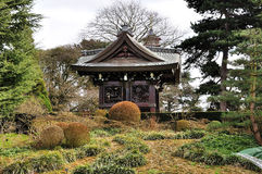 A japanese pagoda. With the garden,adapted in the kew gardens,london royalty free stock photo