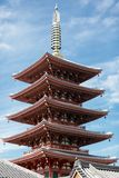 Japanese pagoda Royalty Free Stock Photos