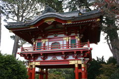 Japanese Pagoda. Belongs to the Japanese Tea Gardens at the Golden Gate Park, San Francisco royalty free stock photo