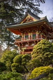 Japanese Pagoda. Japanese building in Golden Gate Park, San Francisco, CA Royalty Free Stock Images