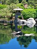 Japanese pagoda at Denver botanical gardens royalty free stock photo